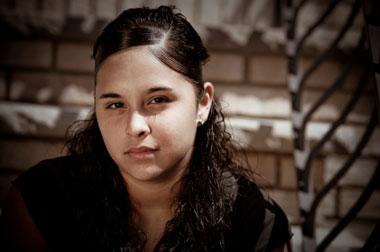 Photo of teenage hispanic girl.