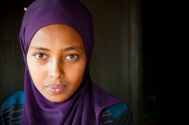 Photo of young muslim woman.