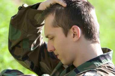 Photo of young man in Army uniform.